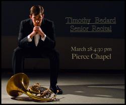 Timothy Bedard Senior Recital Poster