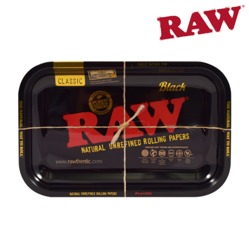 RAW® - BLACK - LIMITED EDITION - Rolling Tray - Small