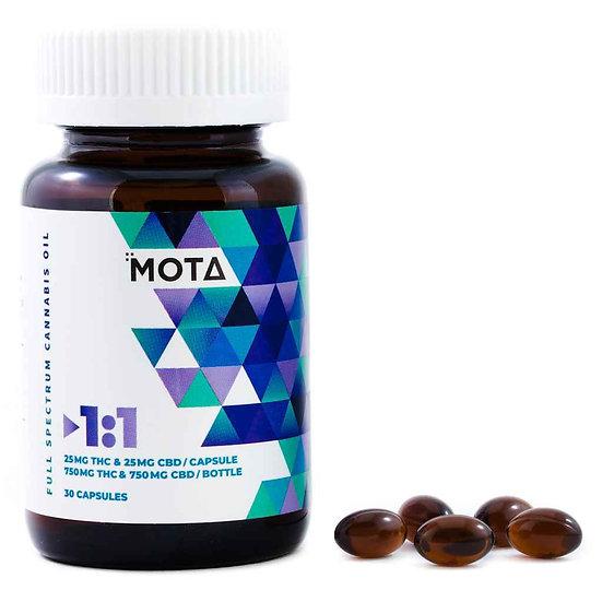 MOTA - 1:1 - Capsules - 25mg THC - 25mg CBD