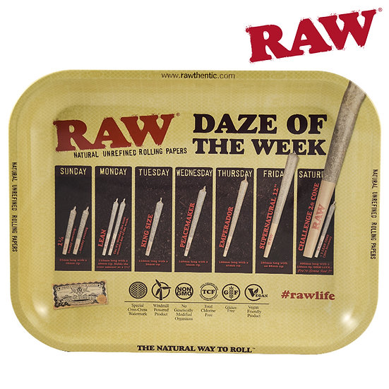 RAW® - Rolling Tray - Daze of the Week - Large