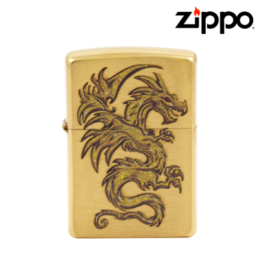 Zippo® - Lighter - Brushed Brass Dragon