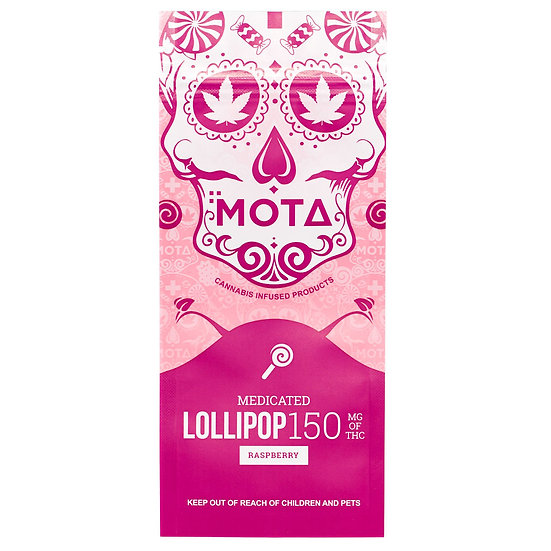 MOTA - Lollipop - Raspberry - 150mg THC