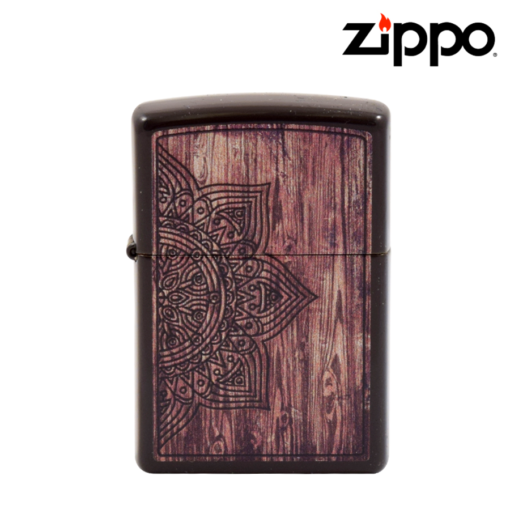 Zippo® - Lighter - Brown Etched Flower