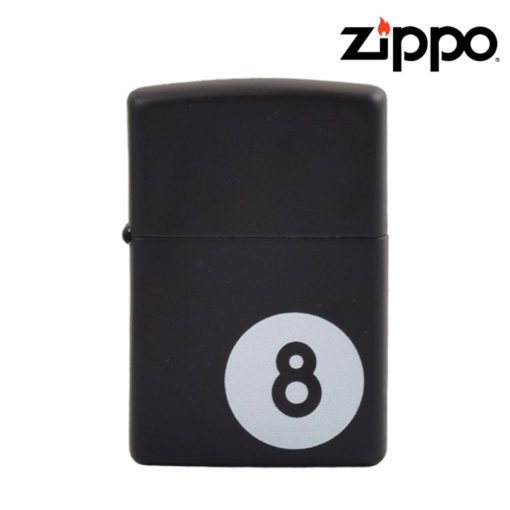 Zippo® - Lighter - BLACK Matte 8 Ball
