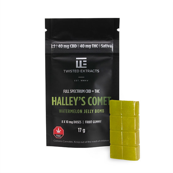 Twisted Extracts - Halley's Comet - Watermelon - 1/1 - Jelly Bomb - THC/CBD