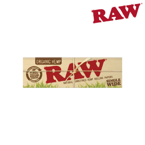 RAW® - Organic Hemp - Single Wide - Single Window - Rolling Papers