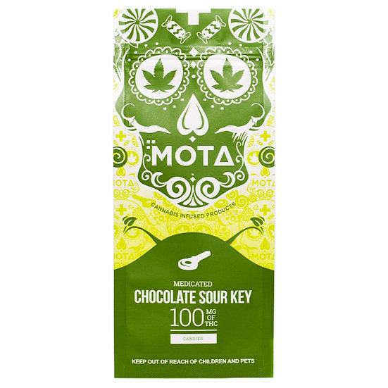 MOTA - Chocolate Dipped Sour Key - 100mg THC