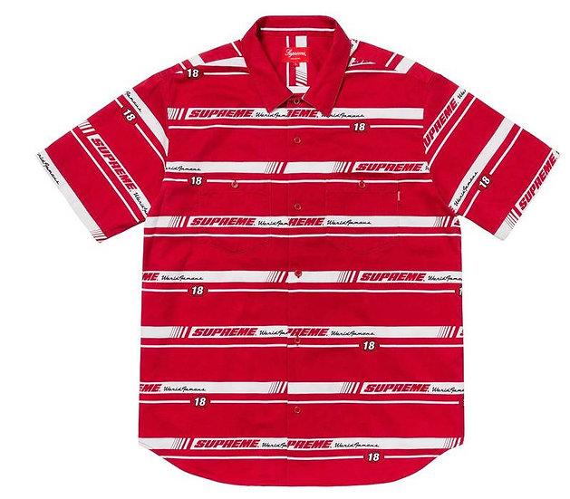 Supreme® - Striped Racing Work Shirt