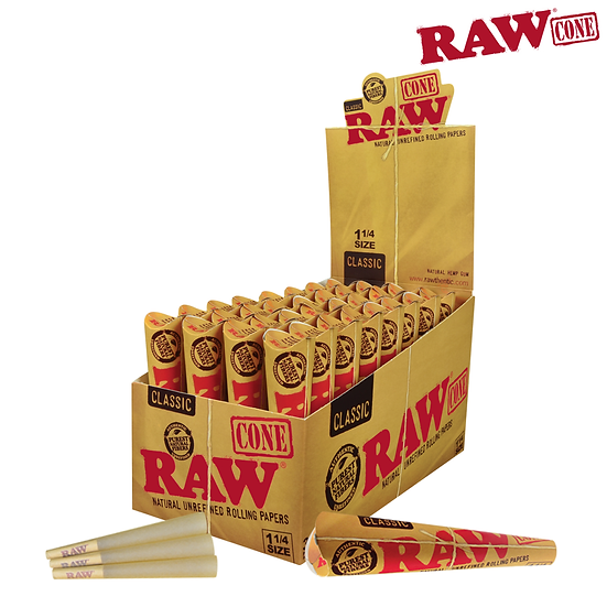 RAW® - Pre-Rolled Cone 1¼ – 6/Pack - Rolling Papers
