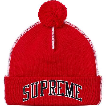 Supreme® Contrast Stitch Beanie - Red