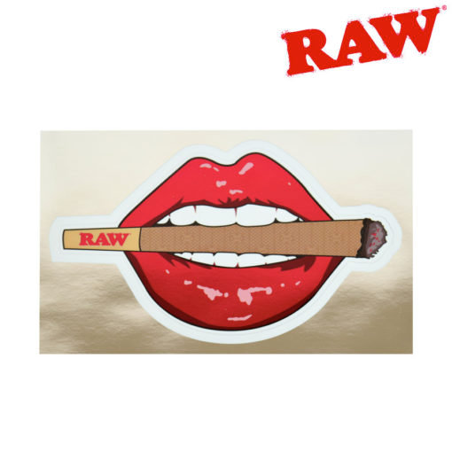RAW® - Lips & Lit Cone Metalic Sticker
