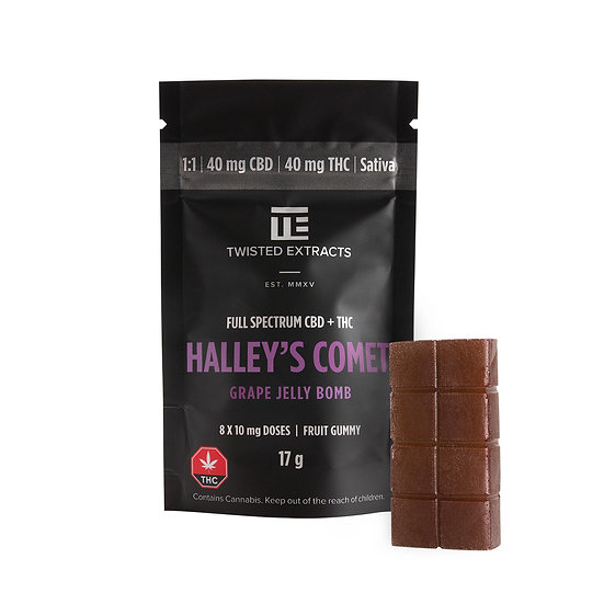 Twisted Extracts - Halley's Comet - Grape - 1/1 - Jelly Bomb - THC/CBD