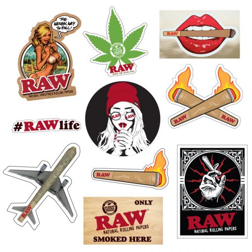 RAW® - Stickers - 10 Pack