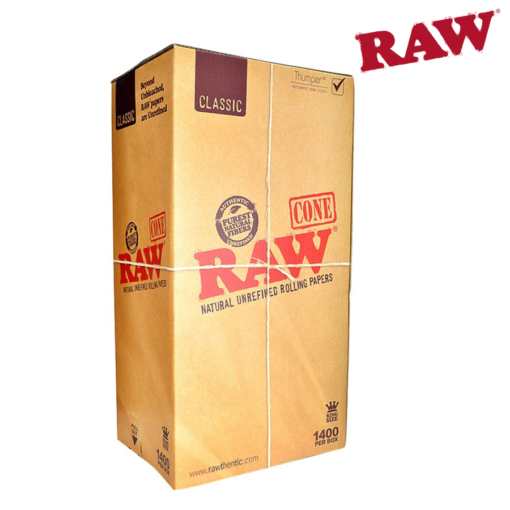 RAW® - Pre-Rolled - King Size Cone - Bulk 1400