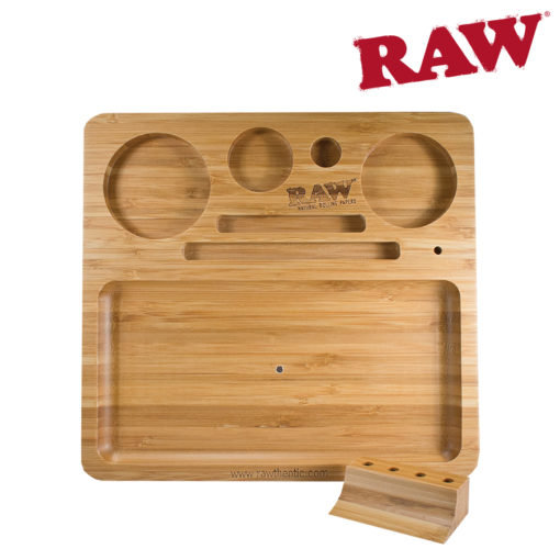 RAW® - Natural Bamboo Tray - Rolling Tray