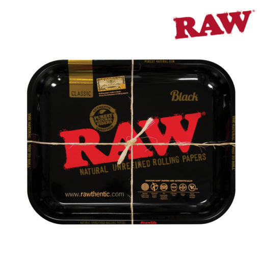 RAW® - BLACK - LIMITED EDITION - Rolling Tray - Large
