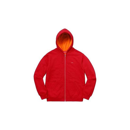 Supreme® - Contrast Zip Up Hooded Sweatshirt - Red - XL - SS18SW34