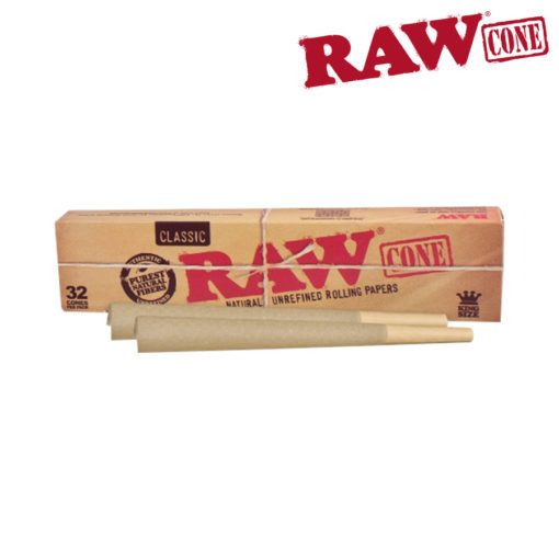 RAW® - Pre-Rolled - King Size Cones - 32/Pack