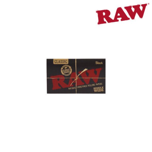 RAW® - BLACK - Single Wide Double Feed - Rolling Papers