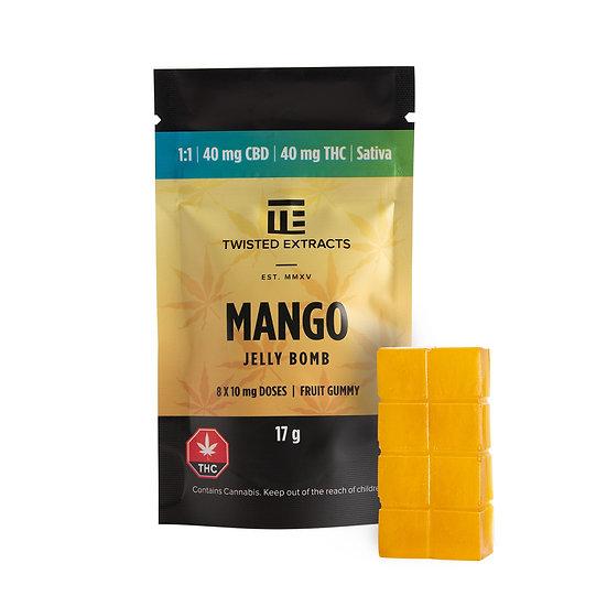 Twisted Extracts - Mango - 1/1 - Jelly Bomb - THC/CBD - Sativa