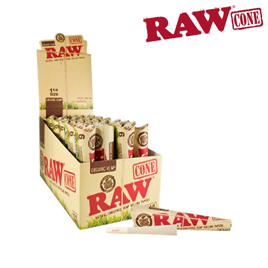 RAW® - Organic Hemp - Pre-Rolled Cone 1¼ - 6/Pack - Rolling Papers