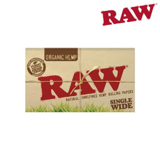RAW® - Organic Hemp - Single Wide - Double Window - Rolling Papers
