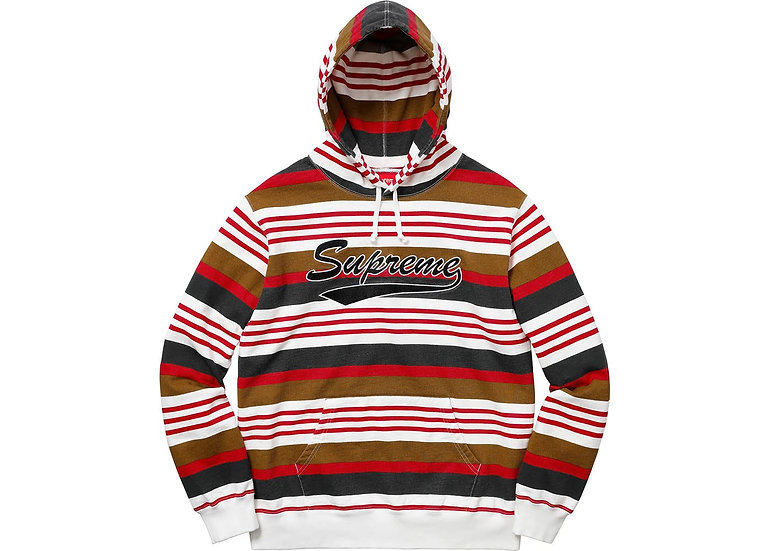 Supreme® - Striped Hooded Sweatshirt - SS18W3