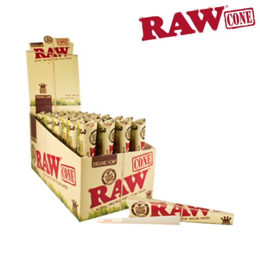 RAW® - Organic Hemp - Pre-Rolled Cone King Size - 3/Pack - Rolling Papers