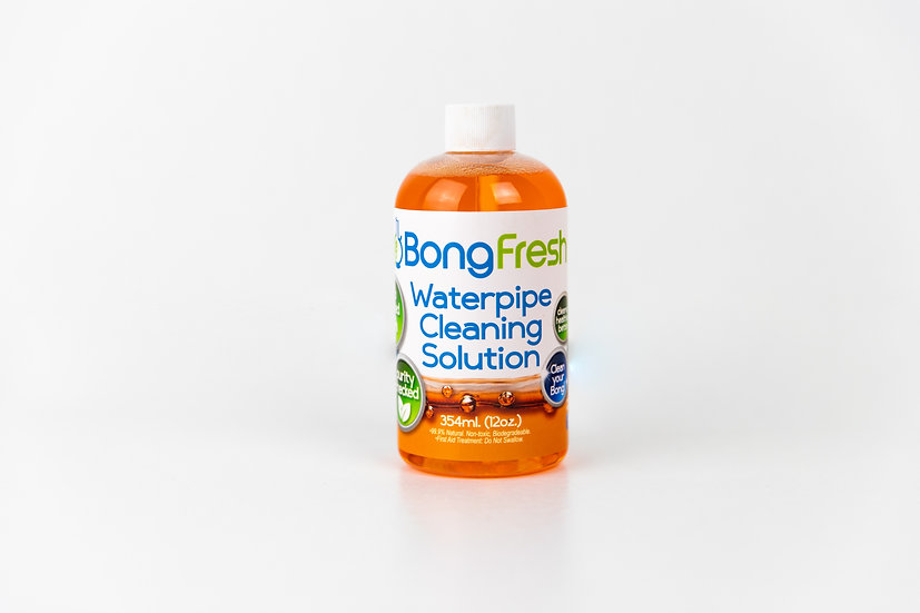 BongFresh - Water Pipe Cleaning Solution (12oz)