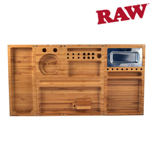 RAW® - Triple Flip Bamboo - Rolling Tray