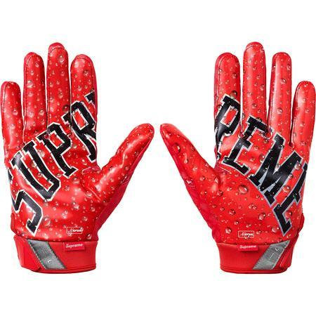 Supreme®/Nike® - Vapor Jet 4.0 Football Gloves - Red - Medium