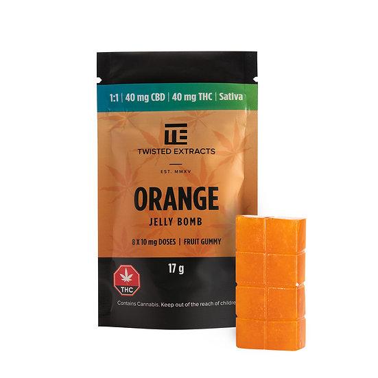 Twisted Extracts - Orange - 1/1 - Jelly Bomb - THC/CBD - Sativa