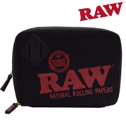 RAW® - ROLLING PAPERS X TRAPP Kit BLACK Stash Bag