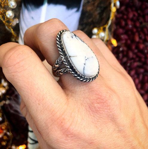 'White Buffalo Woman' Ring Sz. 7.5