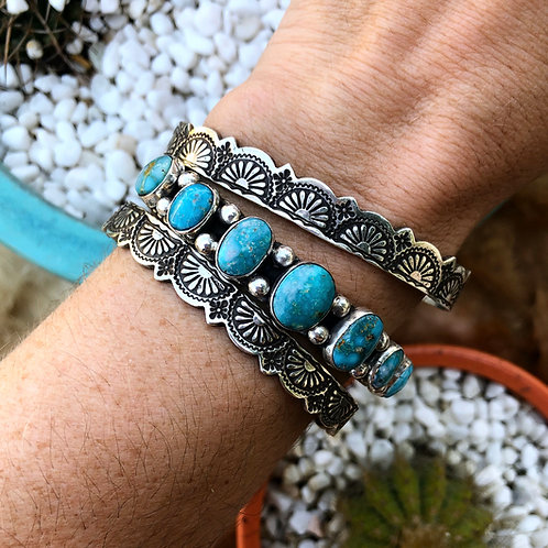Starry Nights Stamped Lace Cuff Bracelet
