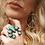 Thumbnail: PEACE Turquoise Hoop Earrings