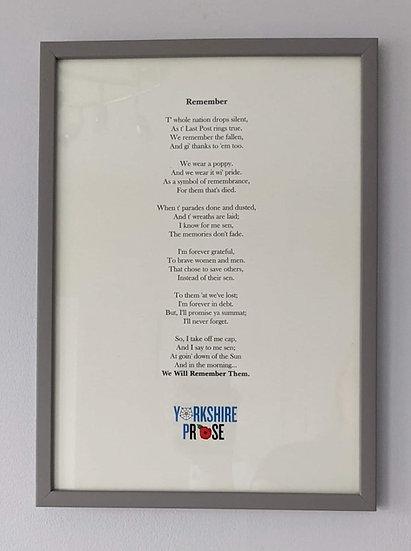 Remember Print