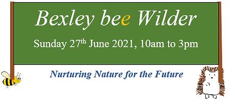 Bexley bee Wilder sign - bee and hedgeho