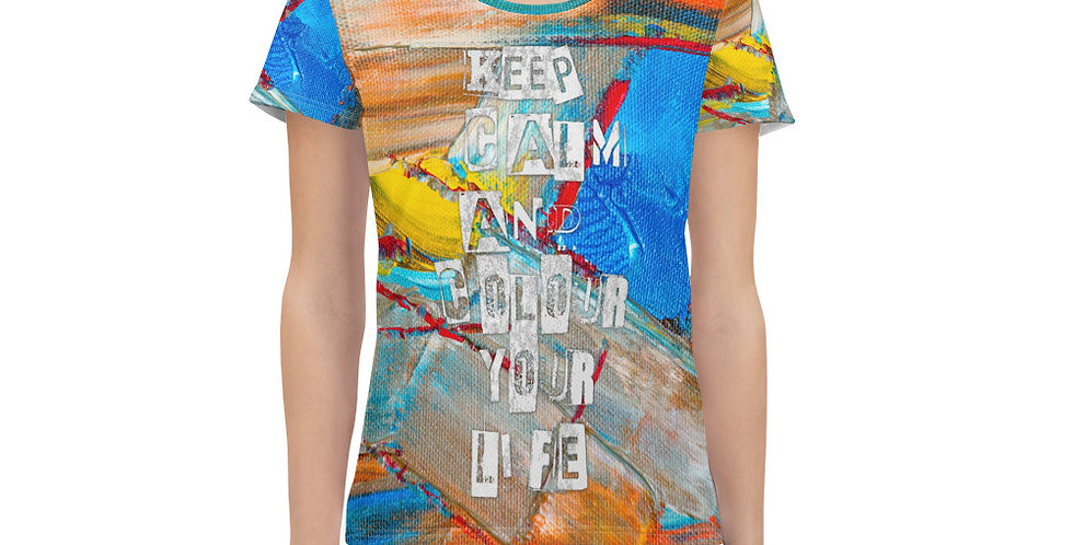 All-Over Print Women's Athletic T-shirt BV6556