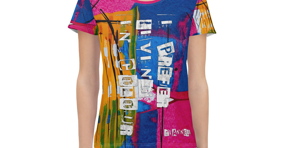 All-Over Print Women's Athletic T-shirt AS5456