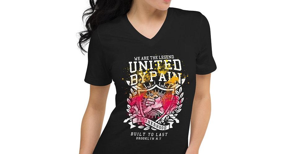 Unisex Short Sleeve V-Neck T-Shirt AS4355