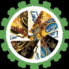 Chocolates de várias marcas
