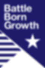 Battle Born Growth Logo Blue Transparent