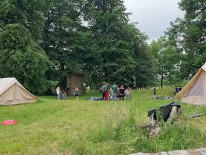 Year 5 & 6 Residential - Tent building