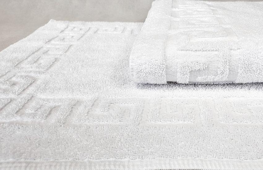 Komplet ręczników łazienkowych - wzór grecki