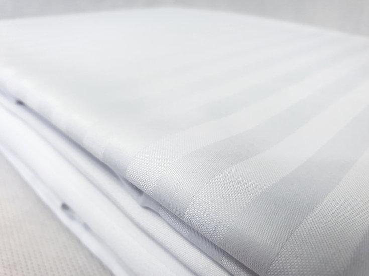 Pościel hotelowa bawełniana 100 % adamaszek - Pasek 2 cm