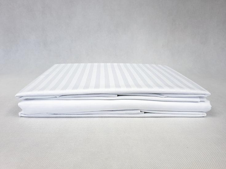 Pościel hotelowa bawełniana 100 % adamaszek -Pasek 1 cm