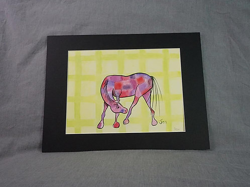 Whimsical Pony  print - Green