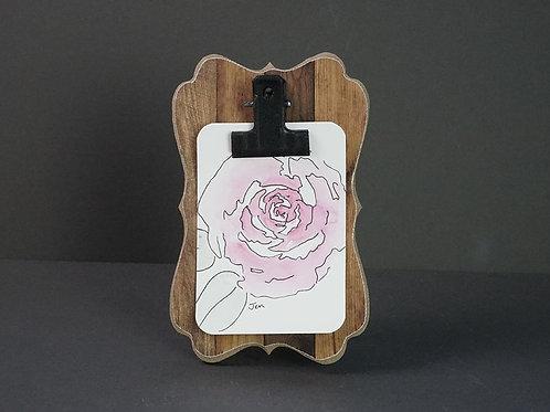 Mini Watercolor - Pink Rose
