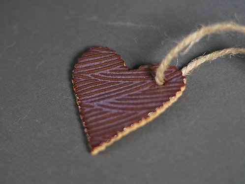 Heart Ornament - Purple